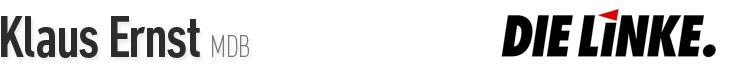 MDB Klaus Ernst - Fraktion DIE LINKE im Bundestag