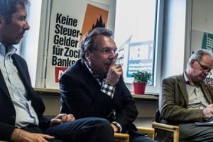 Diskussion beim Gewerkschaftspolitischen Empfang in Nürnberg 30. April 2014