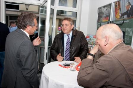 Gewerkschaftspolitischer Empfang in Münchnen am 05. Mai 2014 - Klaus im Gespräch mit Siegfried Leherer