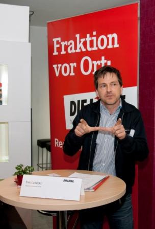 Tim Lubecki auf dem Gewerkschaftspolitischer Empfang in Münchnen am 05. Mai 2014