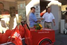 Pressefoto zur Eröffnung des Wahlkreisbüros in Coburg
