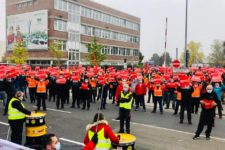 Demonstration der IG Metall in Schweinfurt