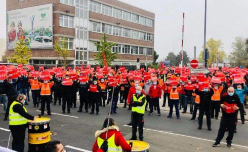 Demonstration der IG Metall in Schweinfurt
